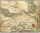 Map of the Wallula Vineyard