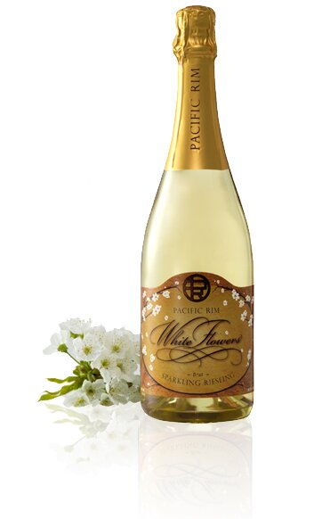 White Flowers Sparkling Riesling Bottle